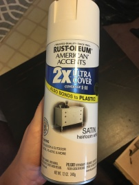Spray paint for DIY furniture makeover