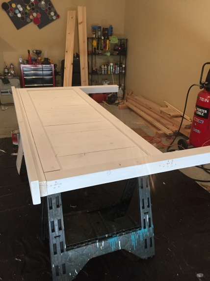 painting farmhouse bed