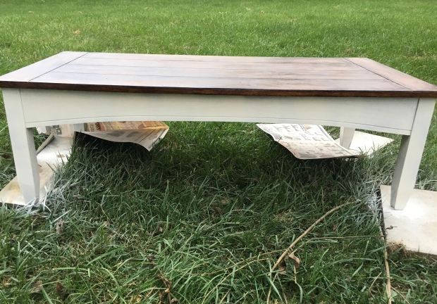 coffee table makeover after