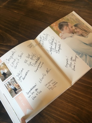 wedding guestbook sample pages