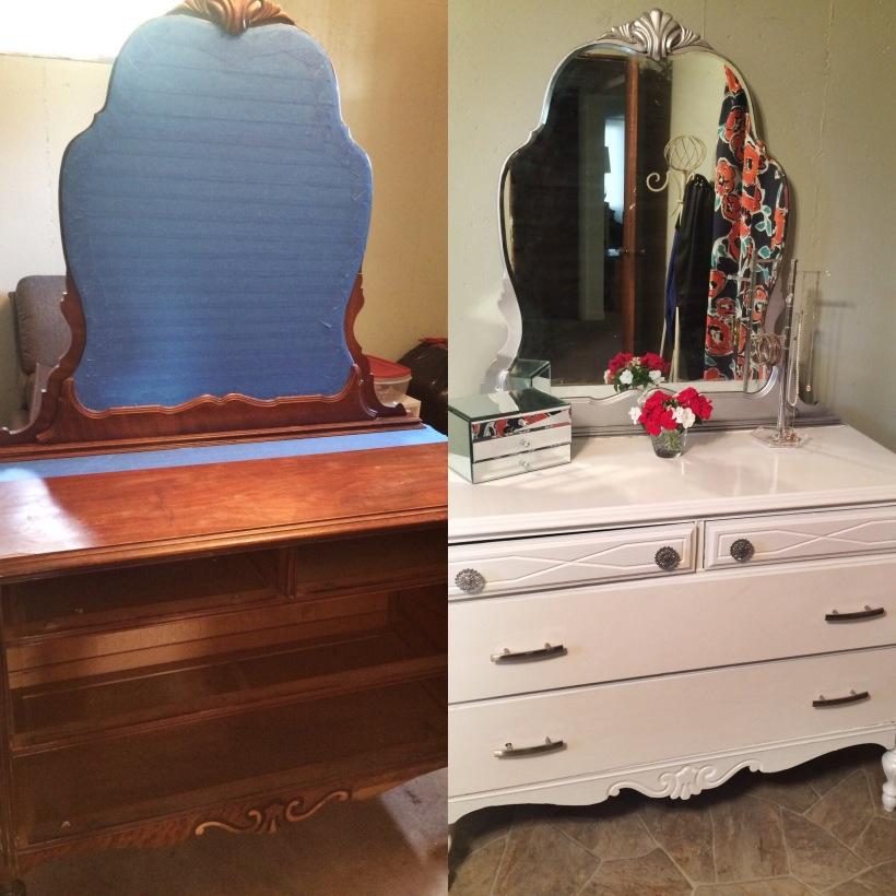 diy dresser makeover before and after