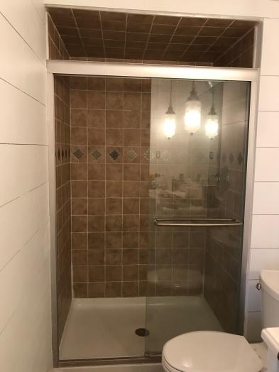 shower before diy transformation